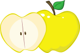 png_129312_rf_clipart_illustration_whole_and_cut_yellow_apple