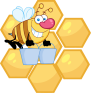 png_4107-happy-honey-bee-flying-with-a-buckets-in-front-of-a-orange-bee-hives