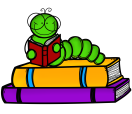 stack-of-books-and-worm-with-onto-clipart-1