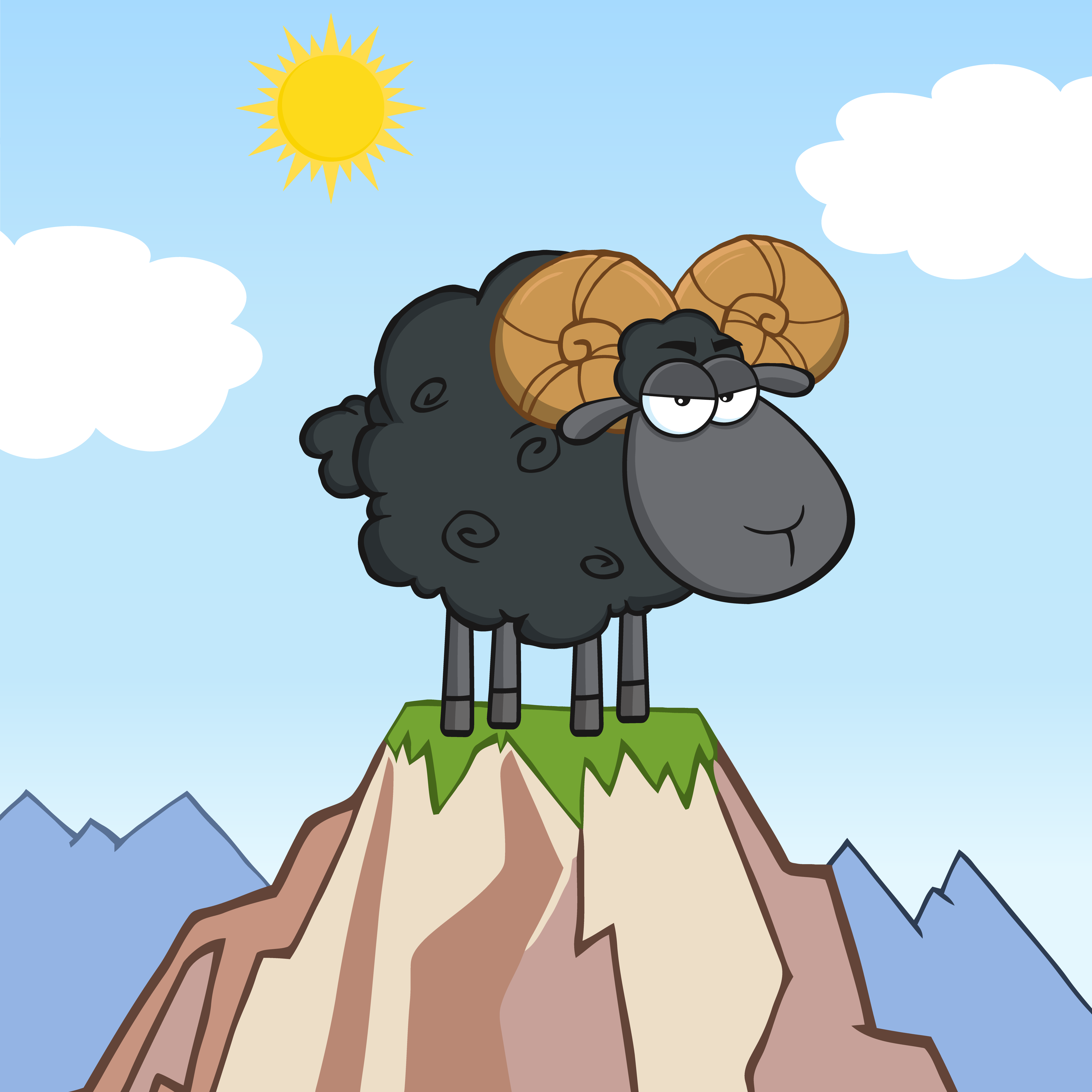 png_Royalty-Free-RF-Clipart-Illustration-Angry-Black-Ram-Sheep-Cartoon-Mascot-Character-On-Top-Of-A-Mountain