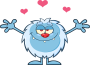 png_Smiling-Little-Yeti-Cartoon-Mascot-Character-With-Open-Arms-For-Hugging-With-Hearts-Vector