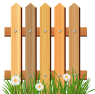 Wooden_Garden_Fence_with_Grass_PNG_Clipart