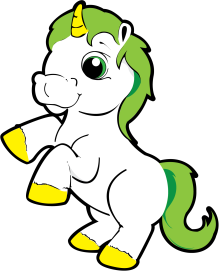 png_cartoon-unicorn-with-green-hair-vector-clip-art