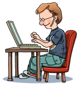 typing-clipart-16-color