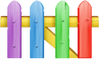 Colorful_Fence_Transparent_Clip_Art_Image