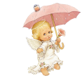 Cute_Angel_with_Parasol_Free_Clipart