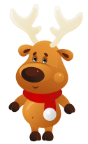 Cute_Christmas_Reindeer_with_Red_Scarf_PNG_Clipart.png
