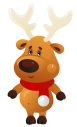 Cute_Christmas_Reindeer_with_Red_Scarf_PNG_Clipart