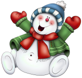 Snowman_with_Scarf_PNG_Clipart
