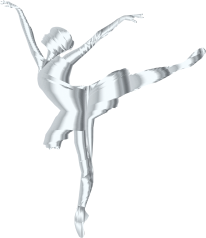 Silver-Graceful-Ballerina-Silhouette-No-Background