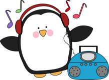 penguin-listening-to-music