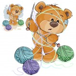 vector-illustration-of-a-brown-teddy-bear-holding-a-knitting-needle-in-its-paw-and-tangled-in-threads_1441-428